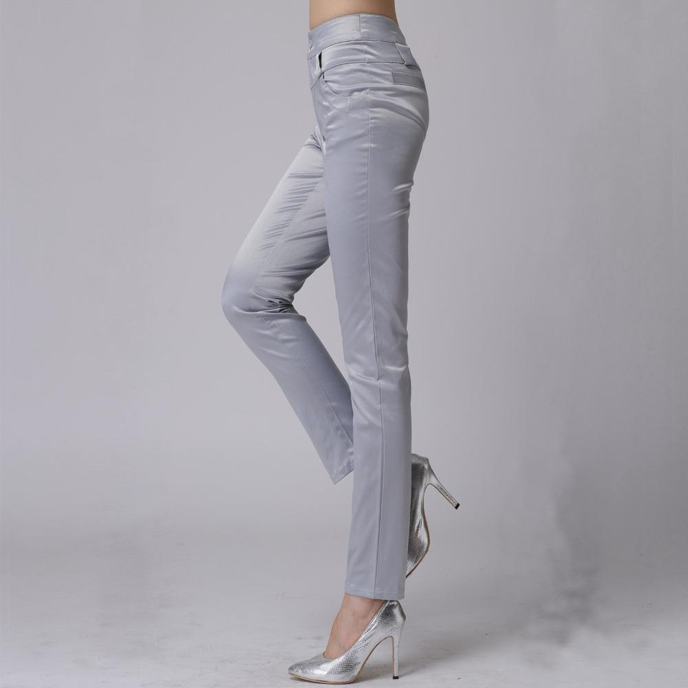 Khaki Stretch Pants For Women