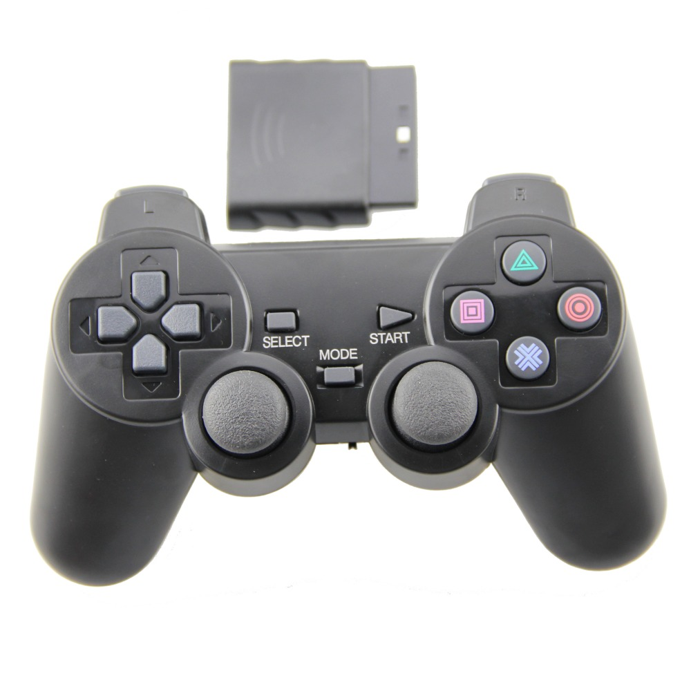 Black For PS2 Game Controller Wireless Double Vibration Joystick For Playstation 2 Gamepad(China (Mainland))