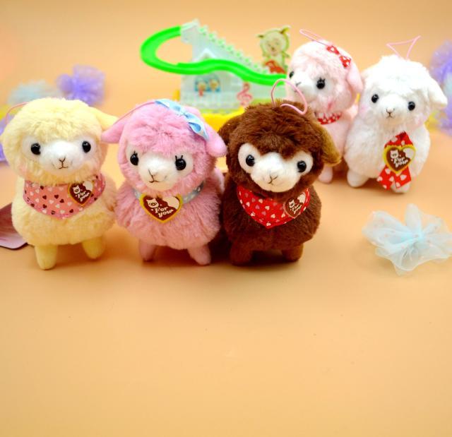1Pcs New Cute 12cm Alpaca Charming Japan Amuse Plush Heart Love Alpacasso Arpakasso Alpaca Soft Dll Toys(China (Mainland))