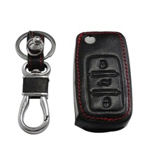Leather car key cover Volkswagen VW POLO Jetta Passat B5 B6 B7 Golf Scirocco Touran CC Tiguan BoraTourage - TOP-KEY store