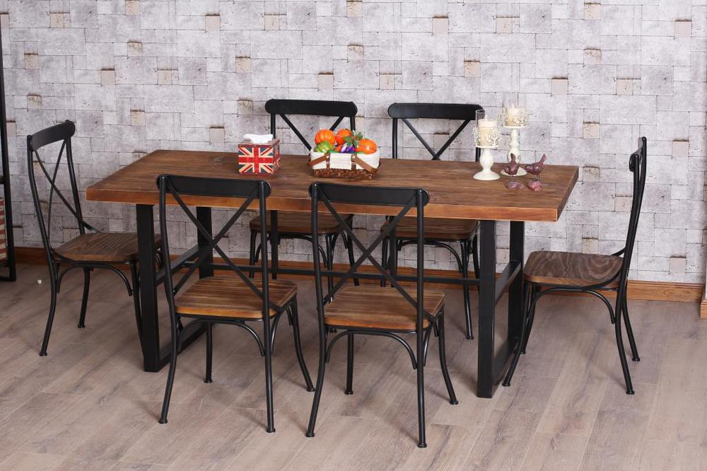 American retro dinette combination of wood wrought iron  : American retro dinette combination of wood wrought iron dining table folding bar table desk doing the from www.aliexpress.com size 1000 x 666 jpeg 105kB
