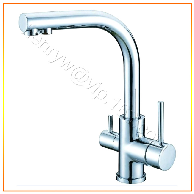Retail luxury brass kitchen faucet 2 functions hot for Expensive kitchen faucets