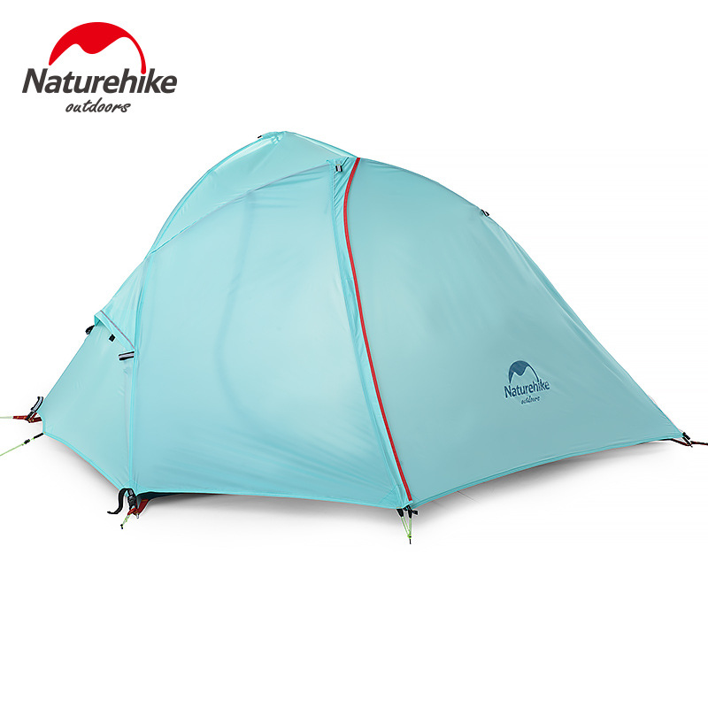 2016 New Naturehike Silicone 1-2 Person Double Layers Tent NH Outdoor One Bedroom Camping Tent With Mat 2Colors 1.25KG(China (Mainland))