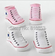 1Pairs Retail Free Shipping Cute Unisex Baby Kids Toddler Girl Boy Short Socks Slipper 6-24 Months Baby Sock Shoes Designs Lc855(China (Mainland))