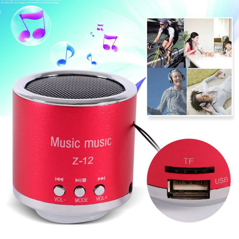 2016 New FM Radio Z12 Portable Speaker USB Micro SD TF Card Mp3 Mini Speaker Computer subwoofer Music box portable speaker(China (Mainland))