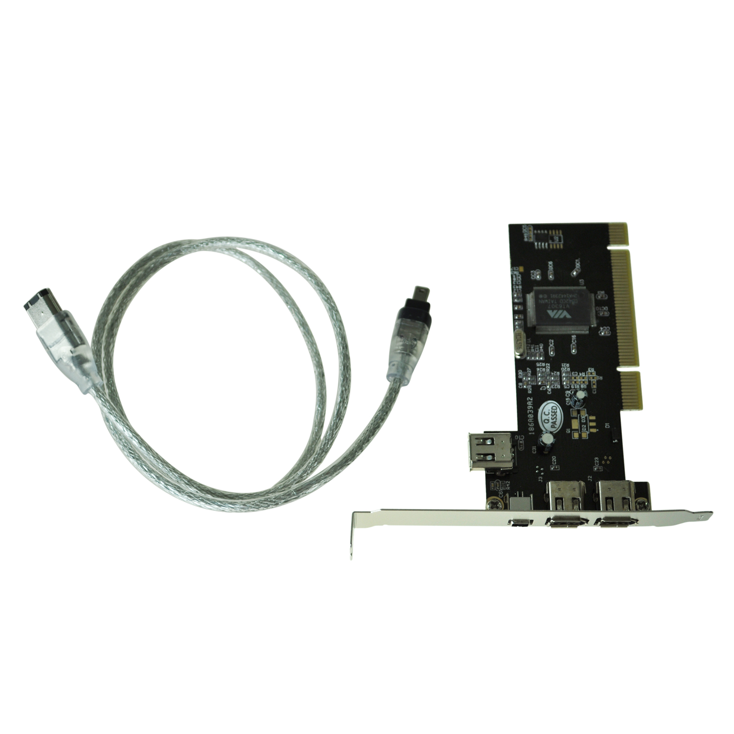 Hot New PCI FireWire IEEE 1394 3 + 1 Port Card + 4/6 Pin Cable UK(China (Mainland))