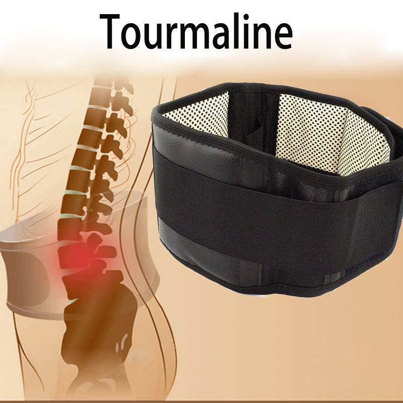 Lumbar Support Belt Adjustable Tourmaline Self-heating Magnetic Therapy Lumbar Brace Belts Thermal Protection Double Banded S-XL(China (Mainland))