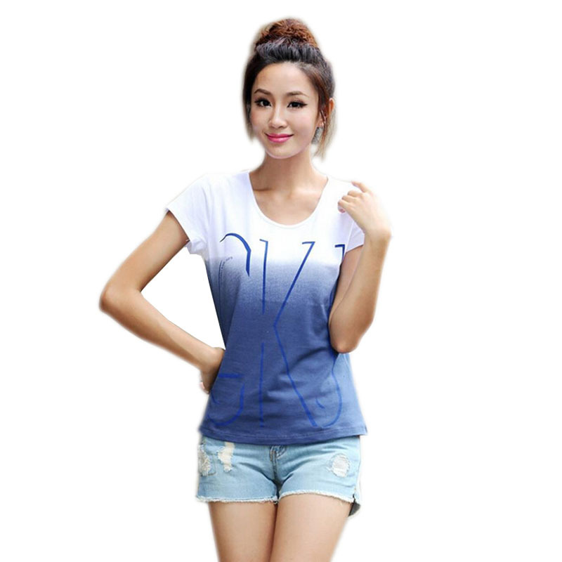 High quality 100 cotton t shirt women short sleeve t for Women s 100 cotton long sleeve tee shirts