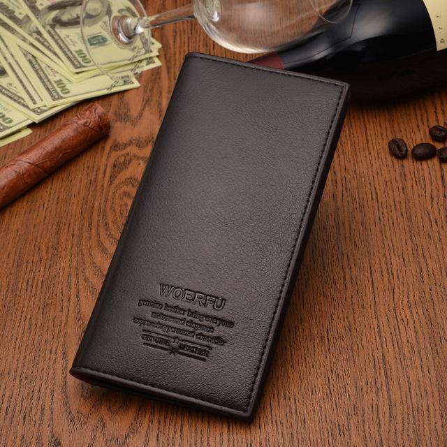 Горячая распродажа популярный черный и кофе долго бумажник мужчины кошелек бизнес ...