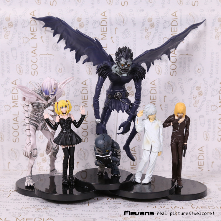 Anime Death Note L Killer Ryuuku Rem Misa Amane PVC Action Figures Toys 6pcs/set(China (Mainland))