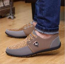 2016 mens Casual Shoes mens canvas shoes for men shoes Flats Leather brand  fashion suede Zapatos de hombre(China (Mainland))