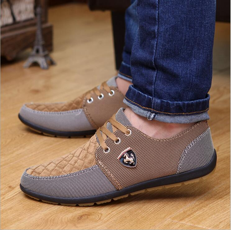 2016 Mens Casual Shoes Mens Canvas Shoes For Men Shoes Men Fashion Flats Leather Brand Fashion