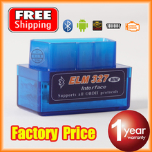 New super bluetooth mini elm327 v2.1 obd2/obdii ulme 327 für android Drehmoment auto-code-scanner versandkostenfrei(China (Mainland))