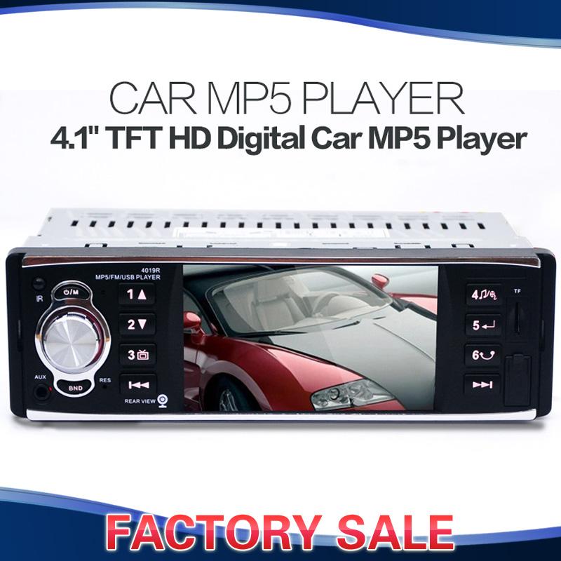 "4.1"" TFT HD Digital Car Stereo FM Radios MP3 MP4 MP5 Audio Video Media Players with USB/SD MMC Port Car Electronics In-Dash(China (Mainland))"