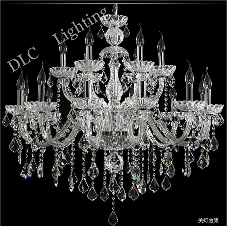 Large crystal chandelier 18 Arms Luxury crystal light chandelier Fashion chandelier crystal light Modern Large chandelier light(China (Mainland))