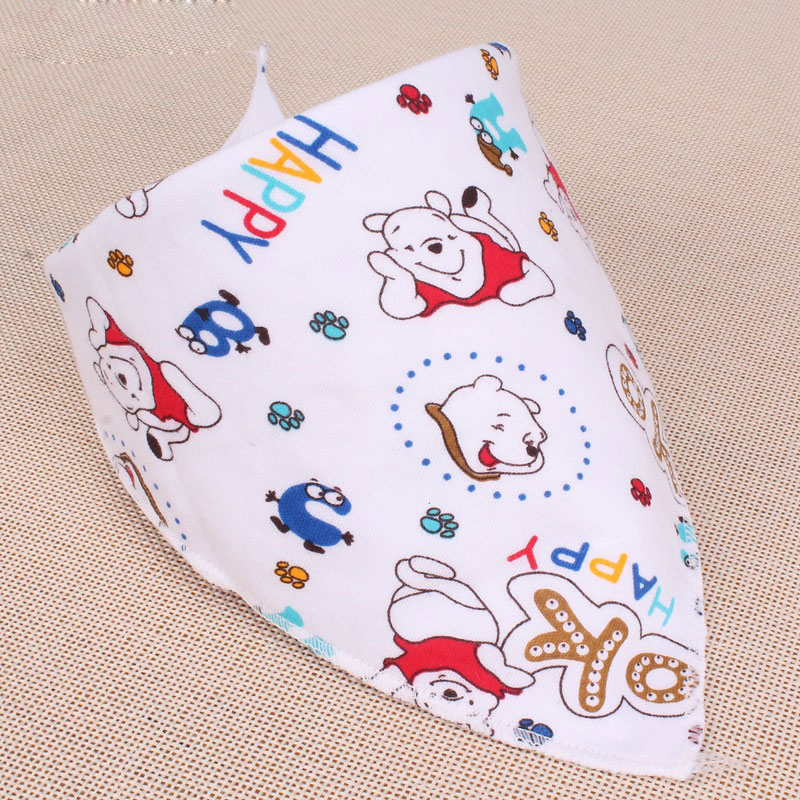 2016 Baby Bibs Cute Cotton Newborn Triangle Burp Cloths Bandana Infant Saliva Bavoir Towel Newborn Feeding Baby Girls Boys