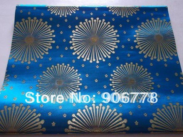 T-blue color High quality sego headtie with different colors and designs for wedding and party