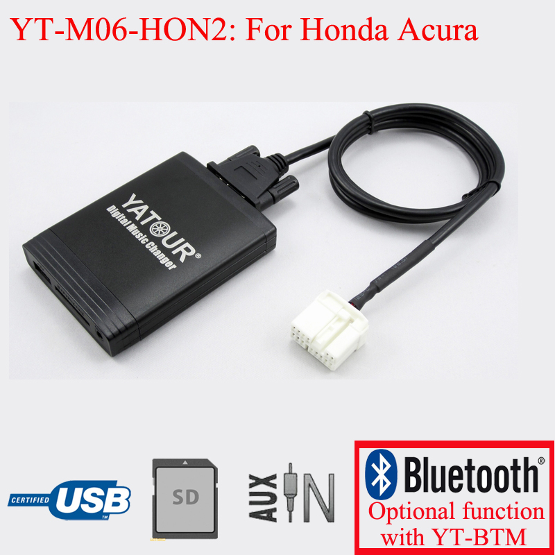 Фотография Yatour car radio MP3 USB SD AUX player for Acura Honda Accord Civic CRV Odyssey Pilot Fit