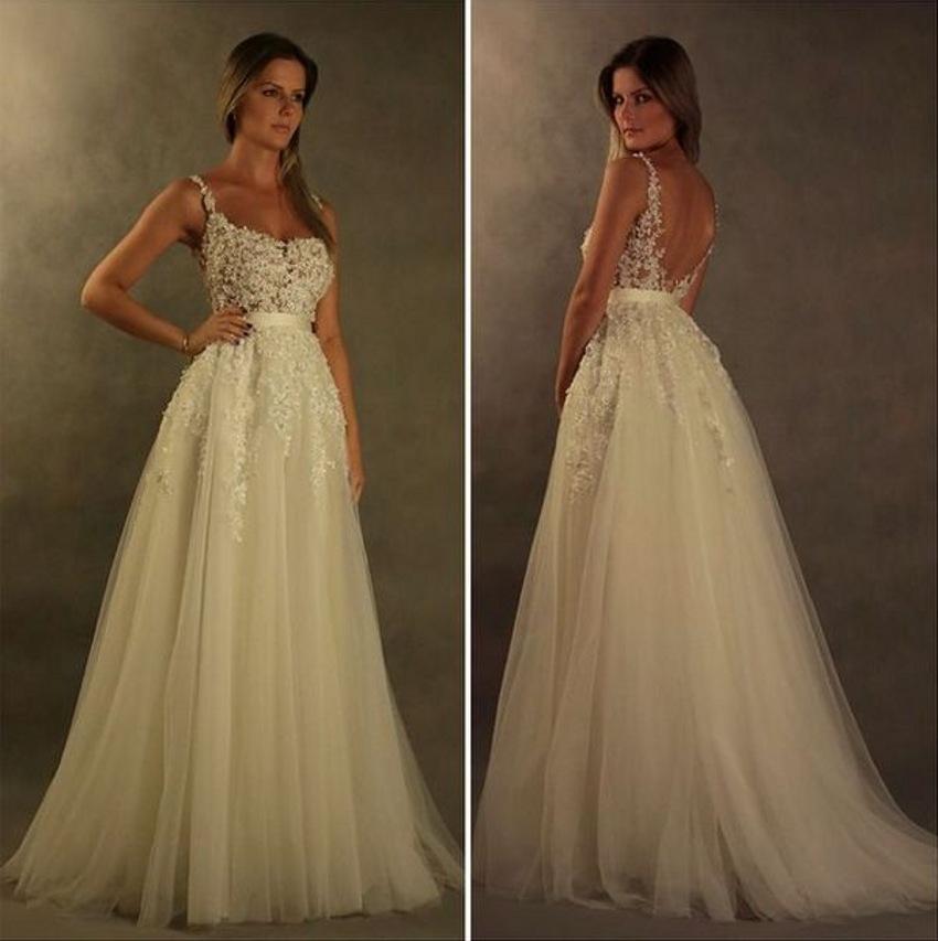 Wedding Dresses vestidos de novia robe de mariage mariee Bride Bridal ...