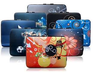 Lss thermal transfer decorative pattern zipper notebook bag laptop sleeve 14 inch case Freeshipping(China (Mainland))
