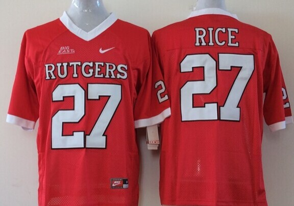 100% Stitiched,Rutgers Scarlet Knights Ray Rice for mens(China (Mainland))
