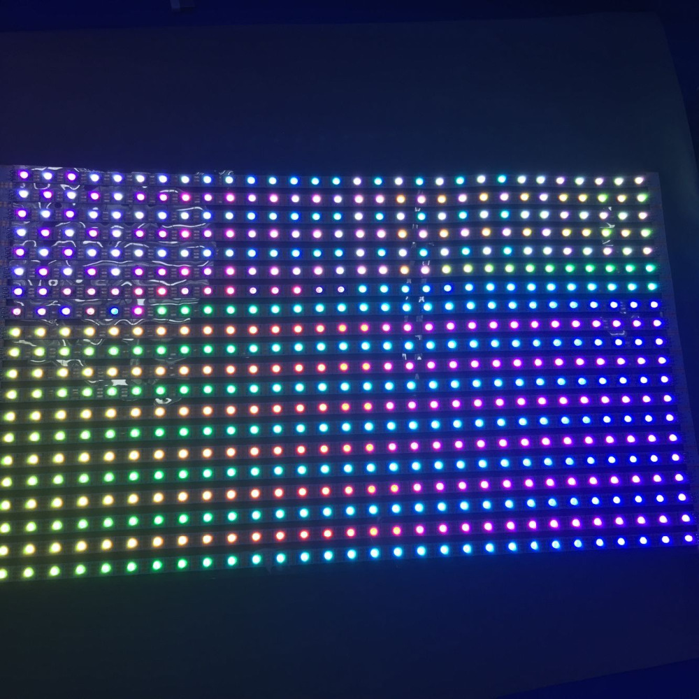 Фотография DC5V 30*20 pixels RGB full color WS2812B Flexible LED Pixel Panel Light;size:50cm*30cm