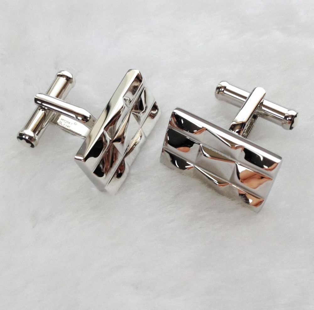 Hot sale germany brand fashion jewelry stainless steel cufflinks in silver for man free shipping-1 pair(China (Mainland))