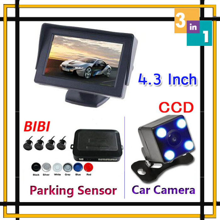 Park System Alarm BIBi Sound 4 Sensors 4 3 inch Auto TFT Screen Color monitor With