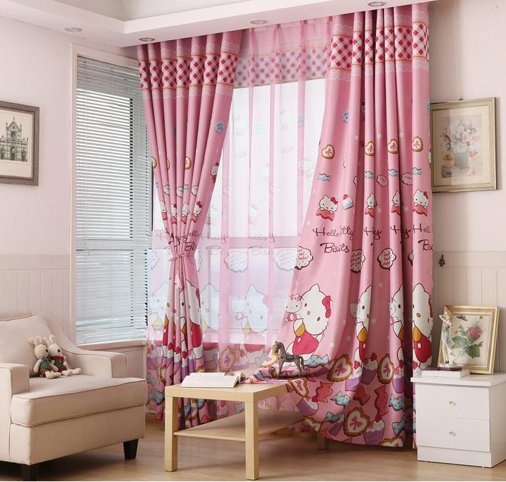 Hello Kitty Tulle And Curtains For Girls Living Room Kids Room Sheers With Rideau  Hello Kitty