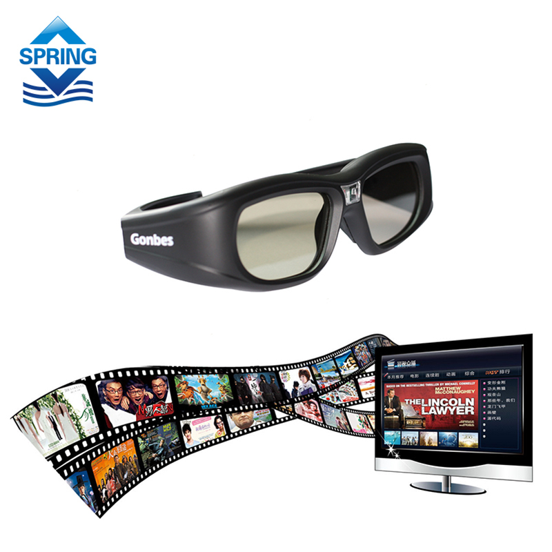 Gonbes G05-DLP 3D Active Shutter Glasses TV Glasses Bluetooth LCD lenses 3D HDTV Blu-ray players Electronic Design(China (Mainland))
