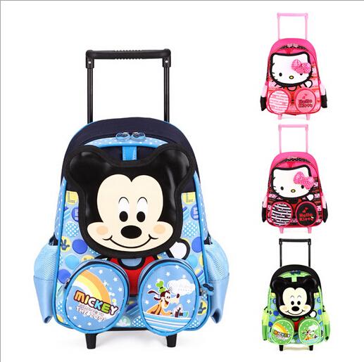 New hello kitty backpack children school bags mochila infantil bolsas trolley bags 2-6 years old kid bag detachable &88089
