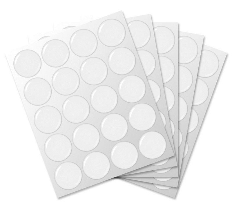 High Quality 3D 20Pcs 1 inch / 25x1.5mm Round Clear Epoxy Resin Patch Dots For Bottle Caps Crafting DIY(China (Mainland))