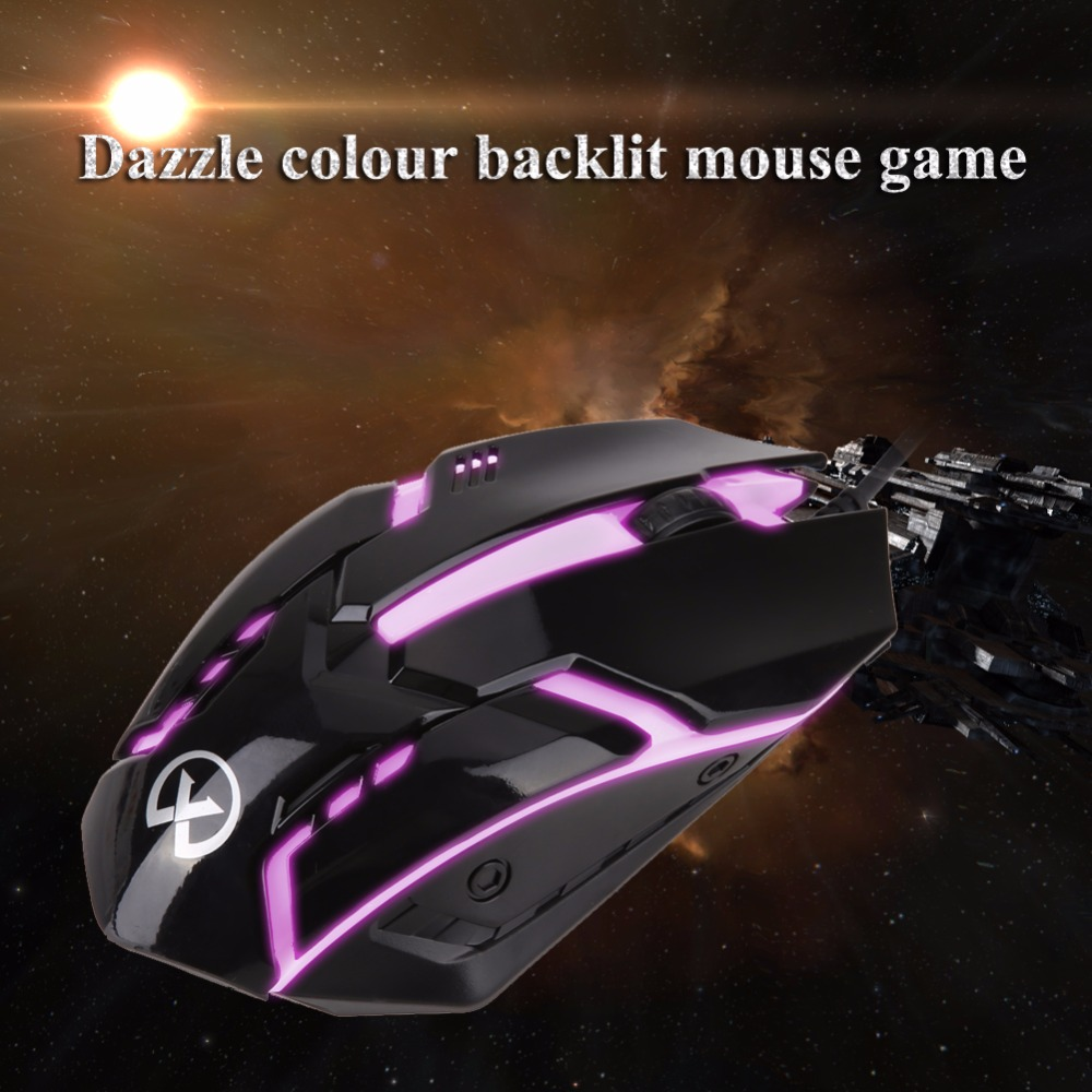 Professional Wired Gaming Mouse Colorful LED Backlight 3D Optical USB Gamer Computer Mouse Mice for Laptop Computer PC(China (Mainland))