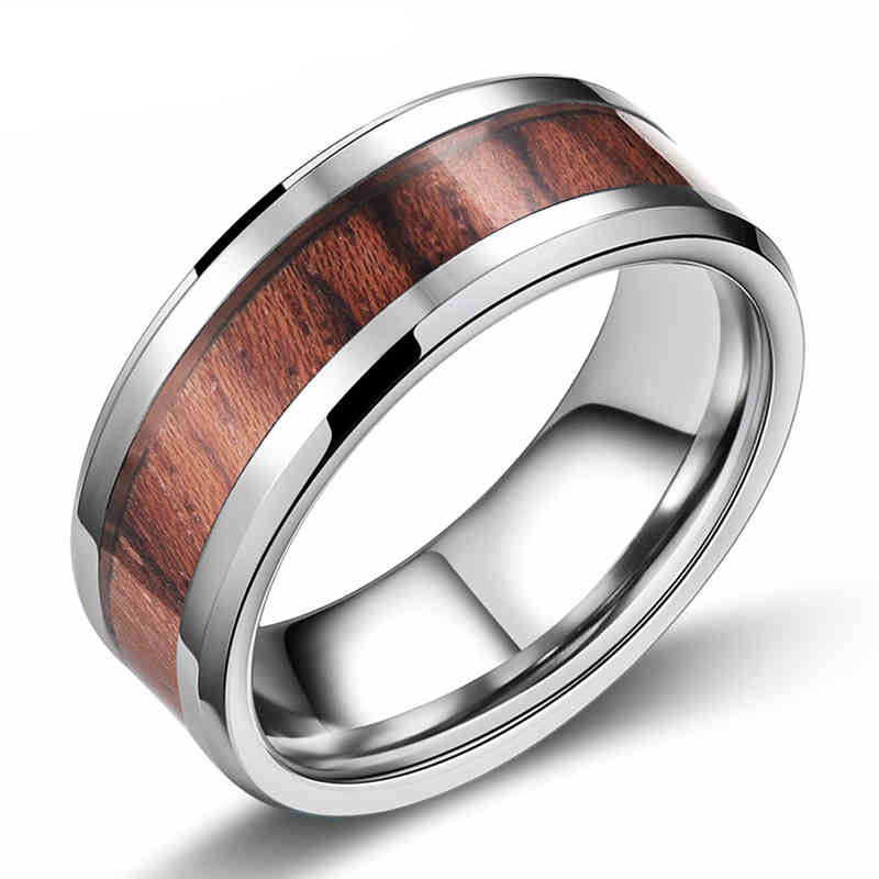 High quality inlaid red wood ring mens finger rings fashion napkin rings(China (Mainland))