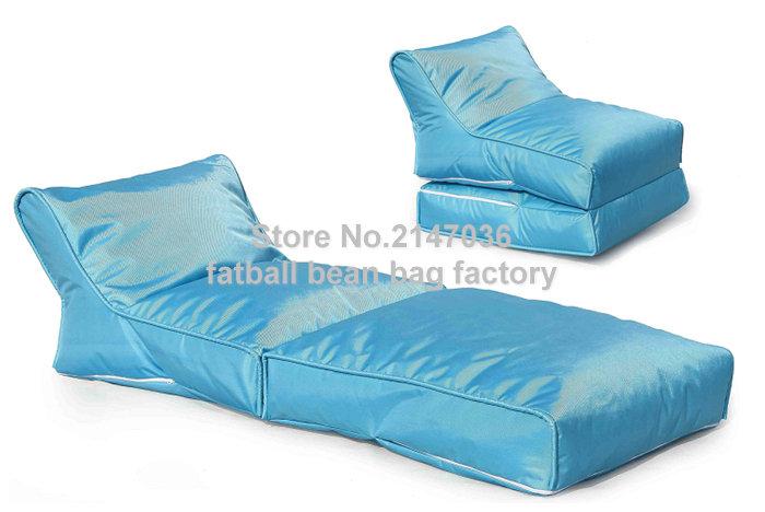 Blue portable bean bag chair, folding outdoor beanbag hammock, Good quality bean furniture sofas set - waterproof(China (Mainland))