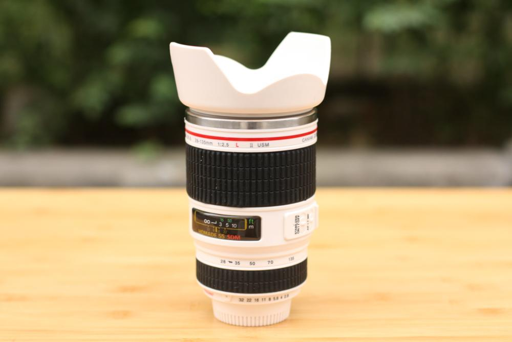 Free shipping Song of the fourth generation Canon24-105 Canon cup lamp lens hood Cup stainless steel cup camera(China (Mainland))