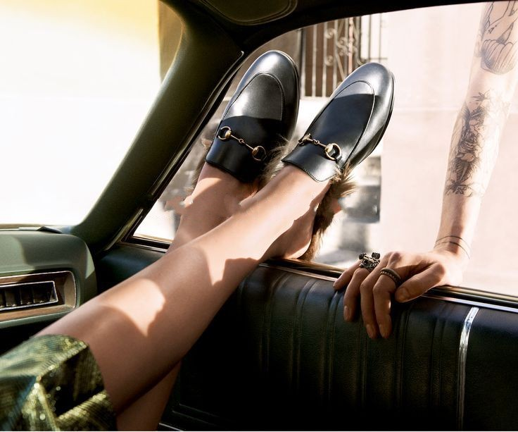 Фотография 2016 Luxury Ladies Synthetic Fur For Women Nest Shape Cozy Slippers Black Genuine Leather Branded Cover Toe Loafer Shoes