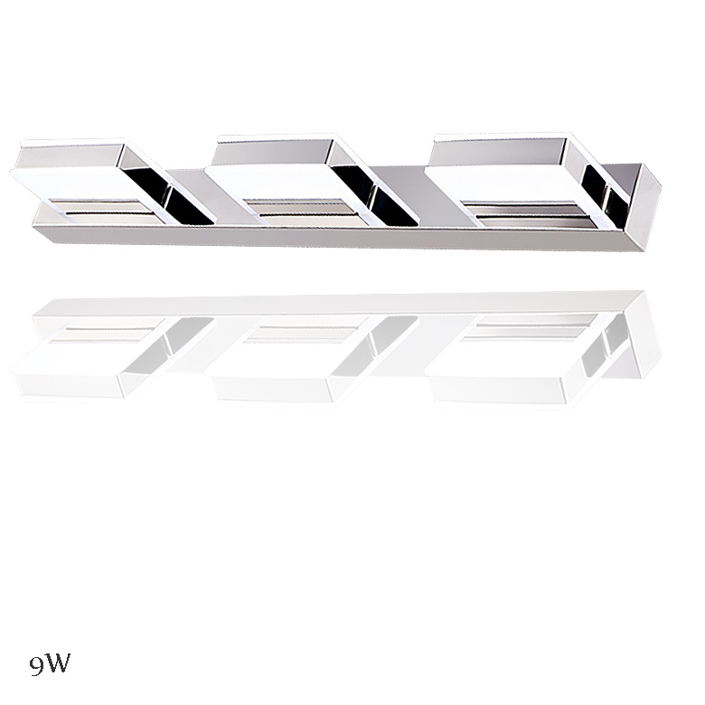 Modern Acrylic White 85-260v 9w Waterproof Bathroom Wall Light Fixtures Led Mirror Lighting Warm Cold White(China (Mainland))