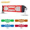 Auxmart DIY 5D 12 100w Spot Flood Combo Beam 12V LED Light Bar with Covers Offroad