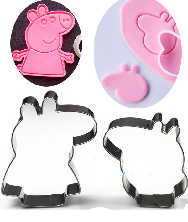 2pcs/ lot Pig metal cutter Birthday Party Mini Cookie cutter favor Loot Bag Filler Candy Buffet decor(China (Mainland))