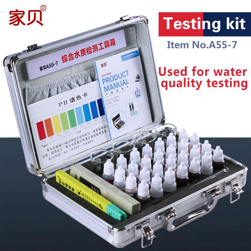 Water quality testing tool kit set water purifier TDS water test meter PH meter PH chlorine reagent detection instrument(China (Mainland))