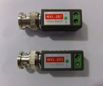 New 2Pairs/4pcs CCTV Passive Video Balun UTP Transceiver BNC CAT5 CABLE CONNECTORS  Free Shipping
