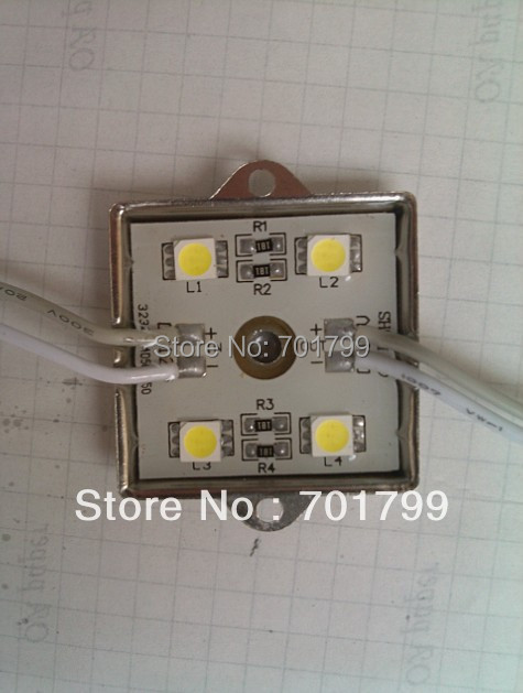 WARM WHITE 5050 SMD LED module,metal case;DC12V,20pcs a string