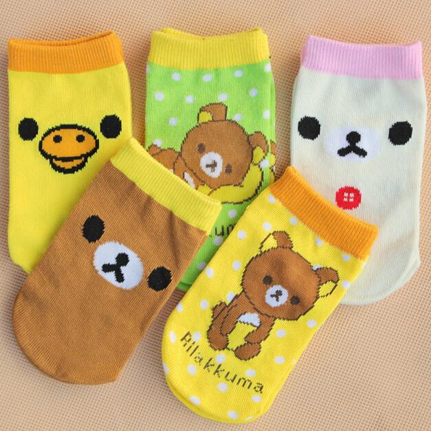 6 pieces=3 Pairs=1 Lot Cartoon Bear Kids Socks 6 month~4 age Summer Babys Cotton Socks cute Child boys & girl's Sock C198(China (Mainland))