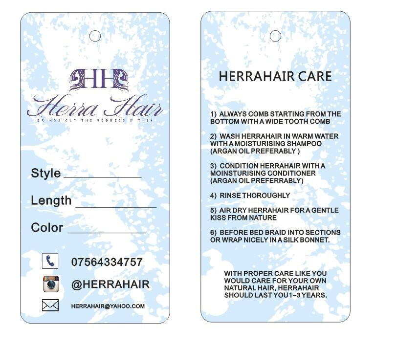 free shipping luxury hair custom/customized logo brand name with care information printing price paper hang tag/swing tags(China (Mainland))