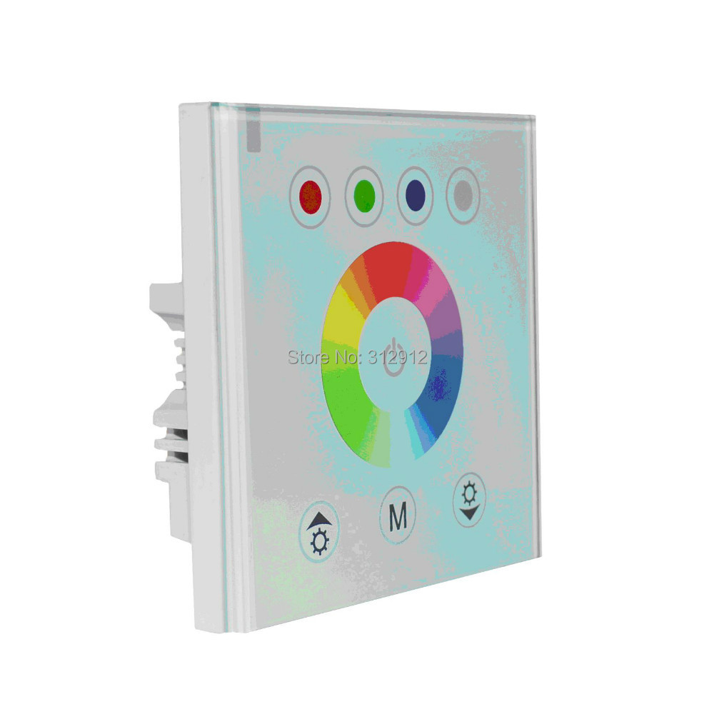 LED RGB touch controller;DC12-24V input;4A*3CH output;WHITE panel(China (Mainland))