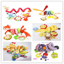 Baby Bed Stroller Hanging Toys Multipurpose Circle Round Sound Paper Mirror Caterpillar Children Boy Gift - buy2buy store