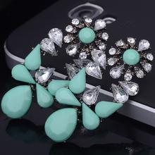 Buy Fashion Long Pendant Earrings For Women Bohemian Crystal Big Flower Rhinestone Dangle Earrings Mix Styles Drop Earrings for $1.22 in AliExpress store