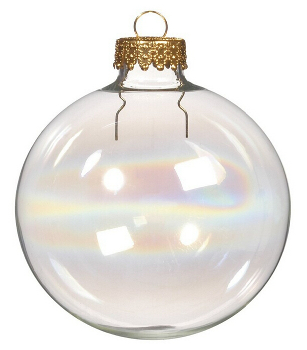 Free Shipping DIY Paintable Iridescent/Rainbow Christmas Ornament Decoration 80mm Glass Ball With a Gold Top, 400/Pack(China (Mainland))