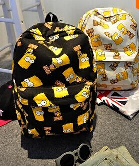 2015 Fashion Bart Simpson men s women Print backpacks canvas students outdoor school shoulder book bags